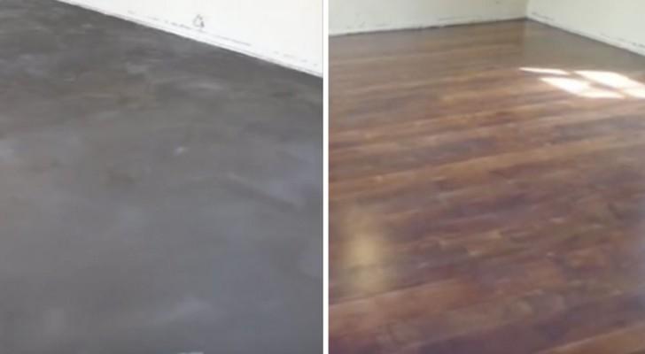 Parece un piso de madera pero es cemento mira como se - Como se echa un piso de cemento ...
