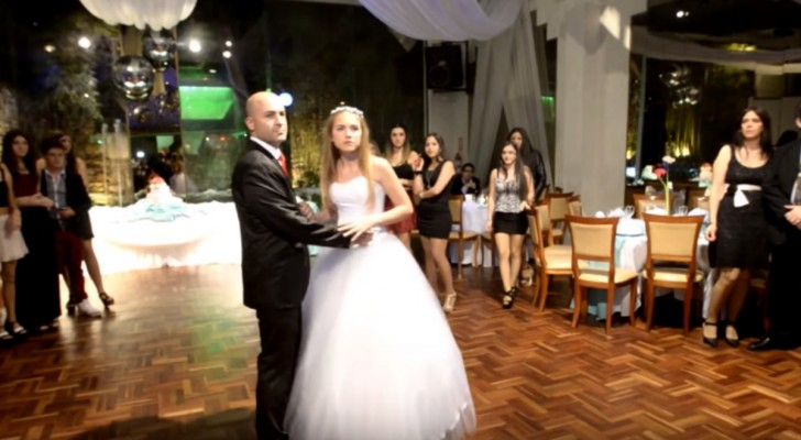 Father and daughter start dancing a waltz, but after 10 seconds, everything changes !