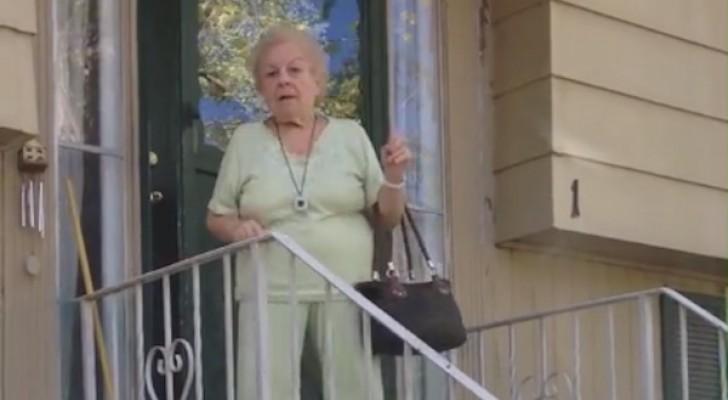 Una donna esce di casa, ma quando inizia la musica sua nipote rimane a bocca aperta!