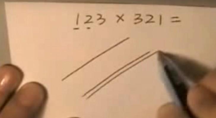 Voilà comment les Japonais font les multiplications: GÉNIAL!