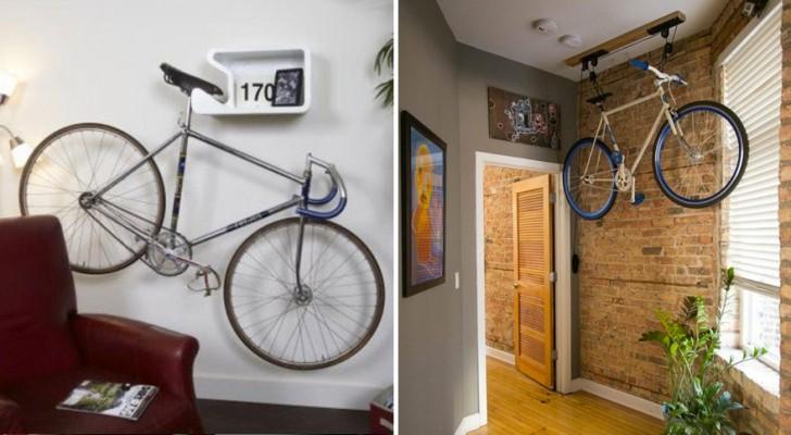 16 soluzioni per sistemare la vostra bici in casa in for Come sistemare la casa