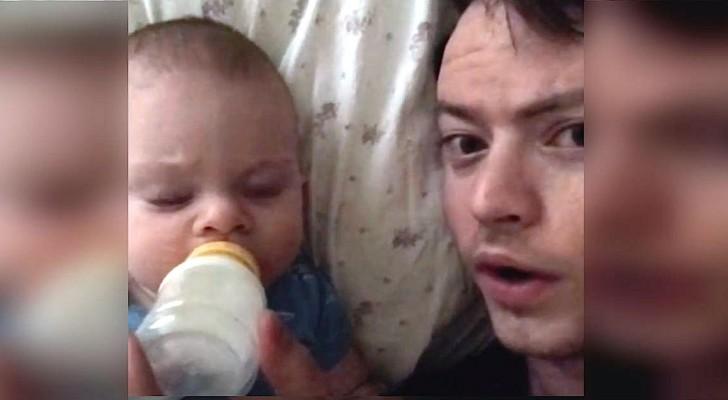 La madre lascia il bimbo a casa... Quando il papà le manda questo video, rimane senza parole