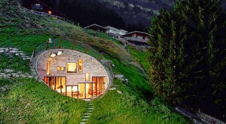 Entre le primitif et le moderne cette maison sous terre for Maison container sous terre