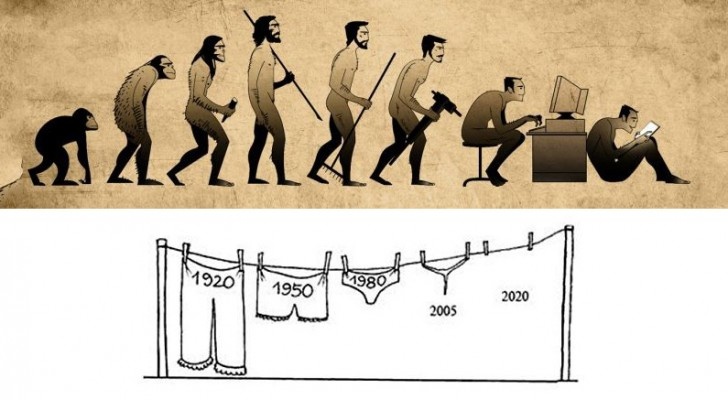 La triste verità sull'evoluzione umana in 16 divertenti immagini