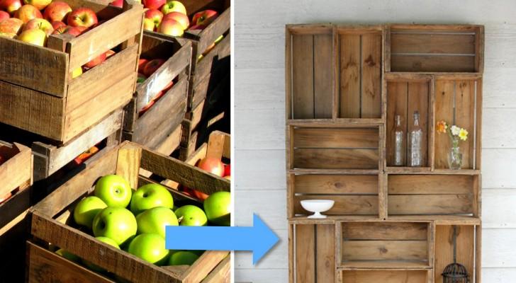 Creare una libreria con le cassette della frutta pi for Creare una pianta con dimensioni