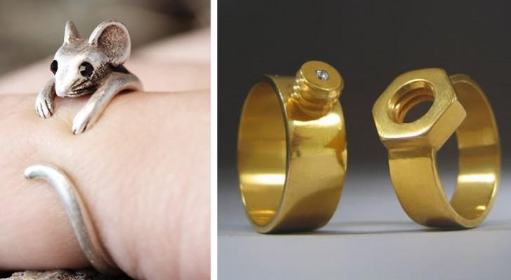 Vergeet diamanten en edelstenen: dit zijn een aantal van de meest originele ringen ooit!