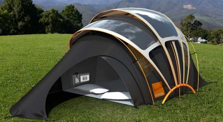 Le camping vous fait peur? Voici la tente qui produit de la lumière, de la chaleur, de l'électricité et internet.