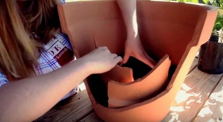 Sie zerstört aus Versehen eine große Terrakotta-Vase... und kreiert dabei etwas magisches!
