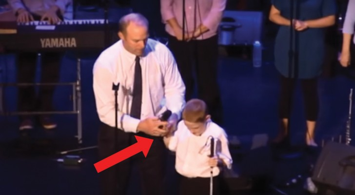A boy who is blind and autistic takes the microphone  --- His performance is heart-stirring!
