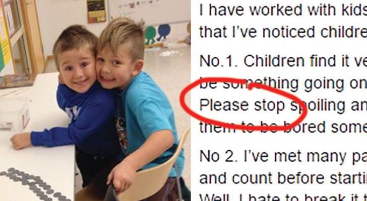 Un insegnante chiede ai genitori di smettere di fare queste 3 cose: il suo appello fa il giro del mondo