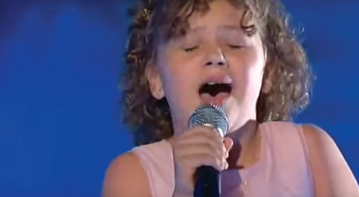 She sings a famous Italian song --- her performance is pure listening pleasure!