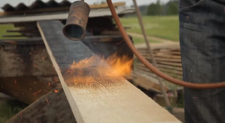 Die alte japanische Technik, um Holz für 100 Jahre haltbar zu machen, ohne chemische Produkte zu verwenden