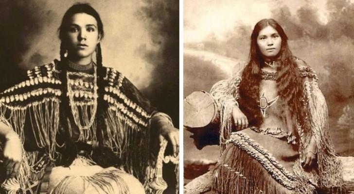 De schoonheid van de Native Americans gefotografeerd in eind 800 net voor de genocide