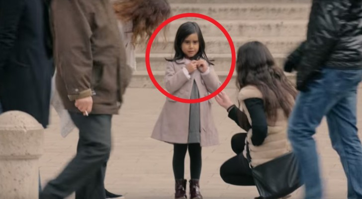 Passersby offer to help a child alone --- but what happens when she is dressed differently?