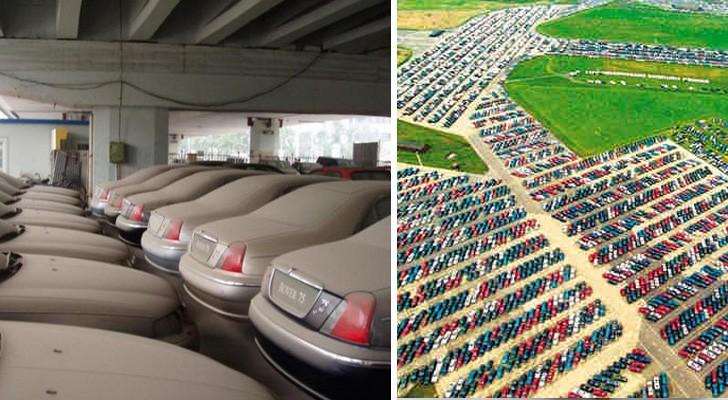 Où finissent les voitures invendues ? Voici les images impressionnantes des cimetières de voitures