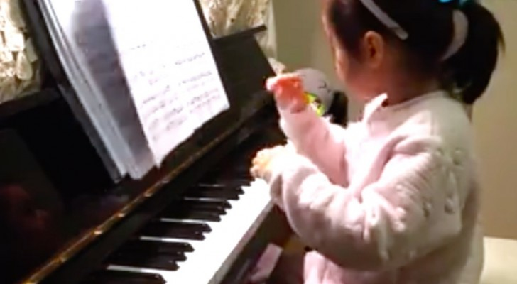 A 3-year-old girl and a piano --- you will not believe what you hear!
