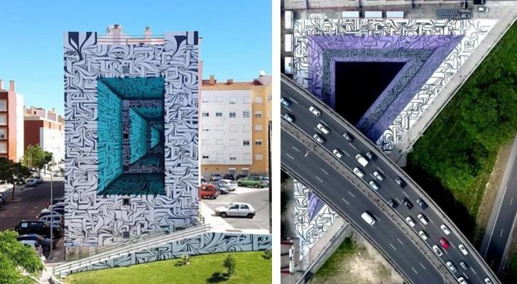 La street art incontra l'illusione ottica: così nascono i graffiti monumentali della periferia parigina