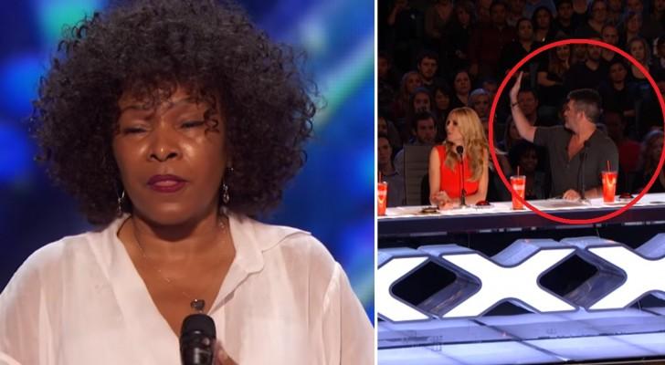 El jurado interrumpe la exhibicion de esta mujer de 62 años: pero cuando comienza a cantar es impresionante!