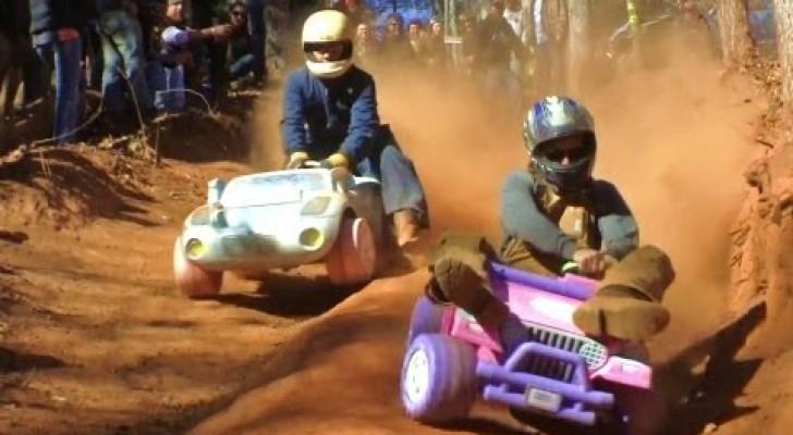 Baby Jeep racing