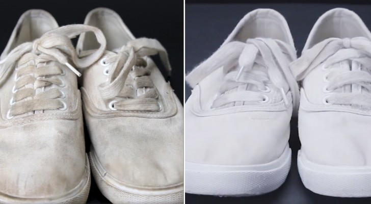 Keep your shoes WHITE with this amazing hack!