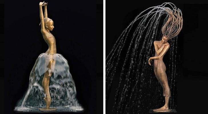 Majestic Bronze and Water Sculptures by Malgorzata Chodakowska