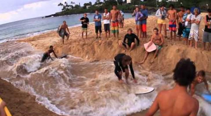 Beeindruckende Möglichkeit, Wellen selbst zu machen
