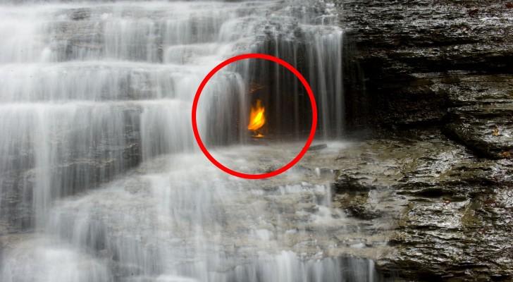 La llama eterna bajo la cascada: un misterio que los estudiosos todavia no han resuelto