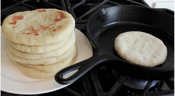 Pita feita em casa: a receita para preparar o pão árabe com muita simplicidade!