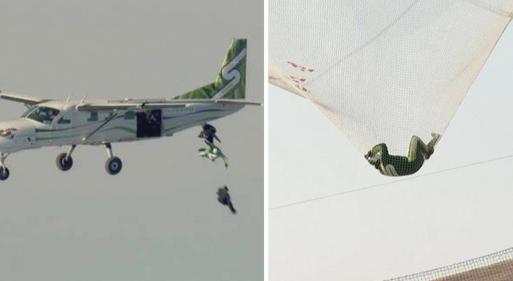 He dives 25 000 ft without a parachute and lands on a net! What a thrill!