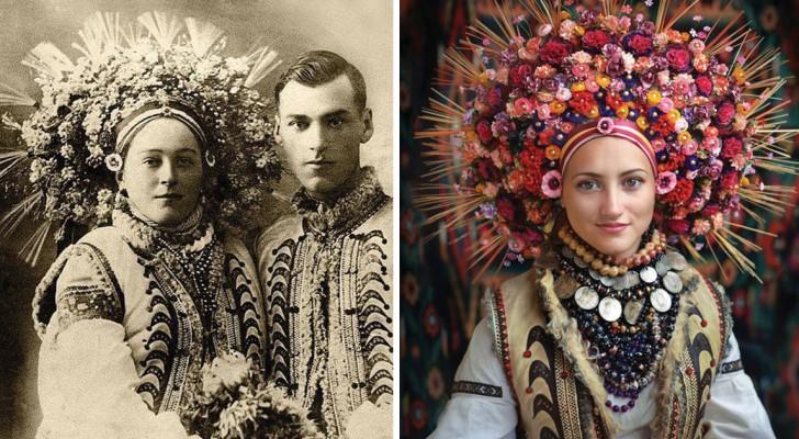 Trovano vecchie foto di donne ucraine e le ricreano: il risultato è meraviglioso