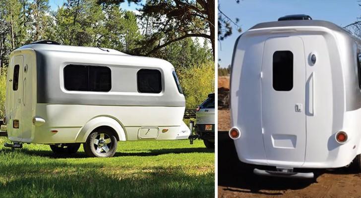 Ultra-liviana y remolcable desde autos de pequeñas dimensiones: esta mini-caravana los sorprendera