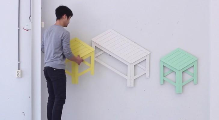 es scheinen bilder zu sein die an der wand h ngen aber seht was passiert wenn er eines davon. Black Bedroom Furniture Sets. Home Design Ideas