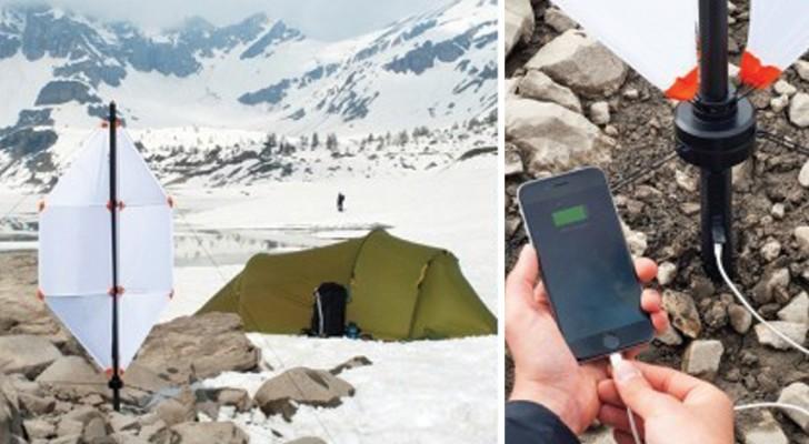 Una turbina che produce elettricità con il vento: l'invenzione svizzera che rivoluziona il campeggio