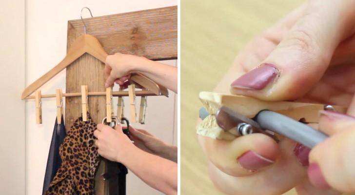 Seis maneiras diferentes de usar o prendedor de roupas!
