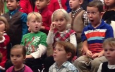 Young Girl Interprets  Christmas Songs With Sign language for Her  Deaf Parents