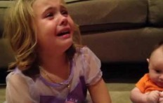 A little girl is desperate for an adorable but totally surreal reason!