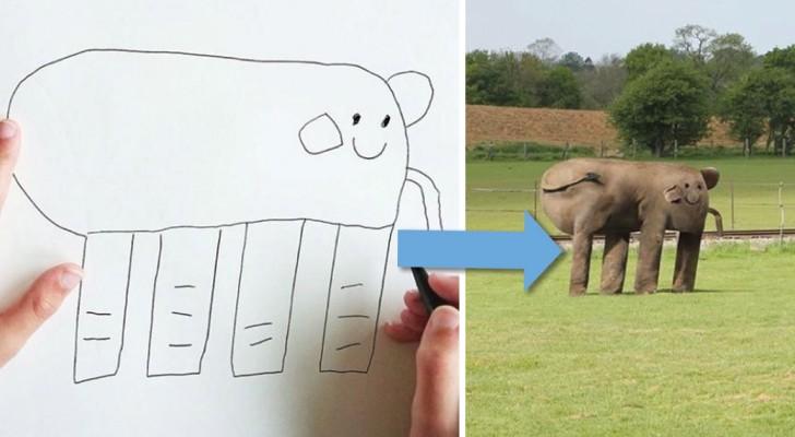 Il transforme les dessins de son enfant en réalité: le résultat est vraiment amusant