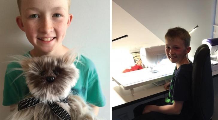 Depuis 3 ans, il coud des peluches A LA MAIN pour les enfants hospitalisés: voici un enfant hors du commun.