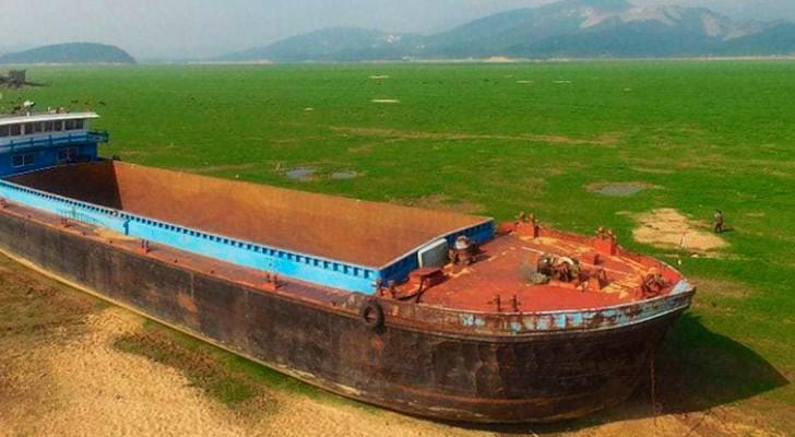 Einer der weltgrößten Seen verschwindet. Und statt dessen erscheint das hier...