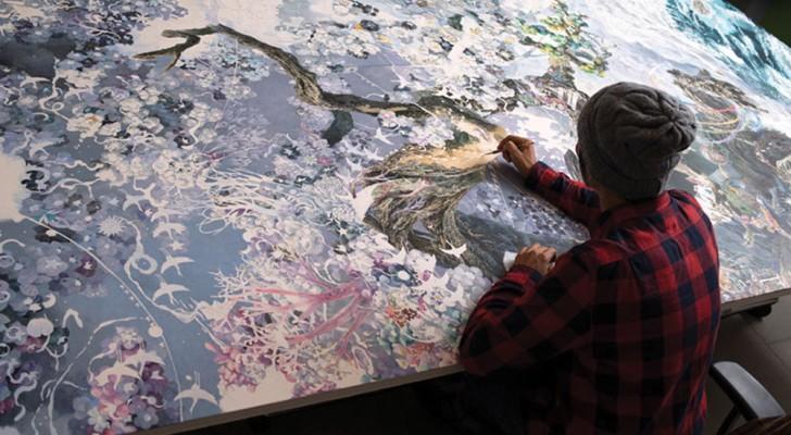 Een Jongen Werkt Drieënhalf Jaar Aan Een Inktpen-tekening… Het Resultaat Is Een MEESTERWERK