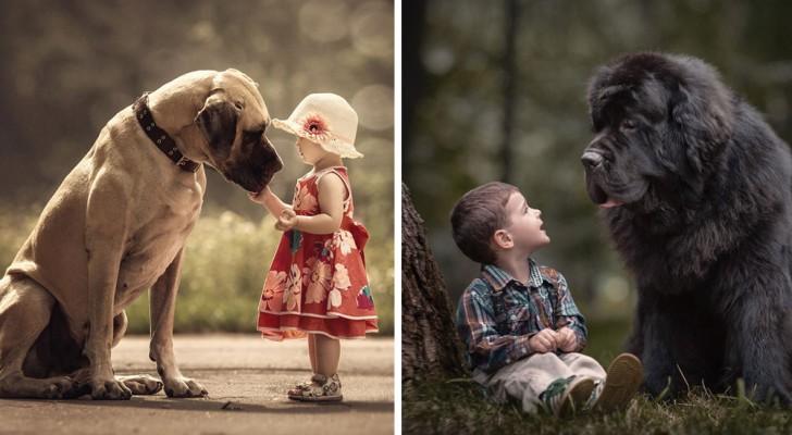 Des enfants minuscules avec leurs énormes chiens: leurs photos vont vous réchauffer le cœur