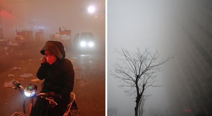 Villes chinoises enfouies sous le smog: quelques images de leur réalité quotidienne
