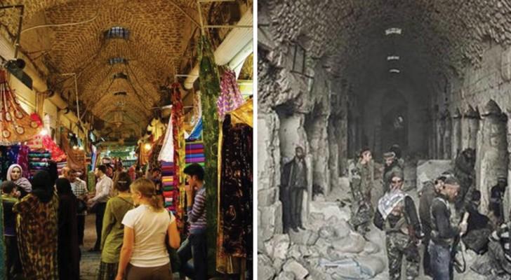 Aleppo prima e dopo: queste foto ci mostrano gli effetti devastanti della guerra