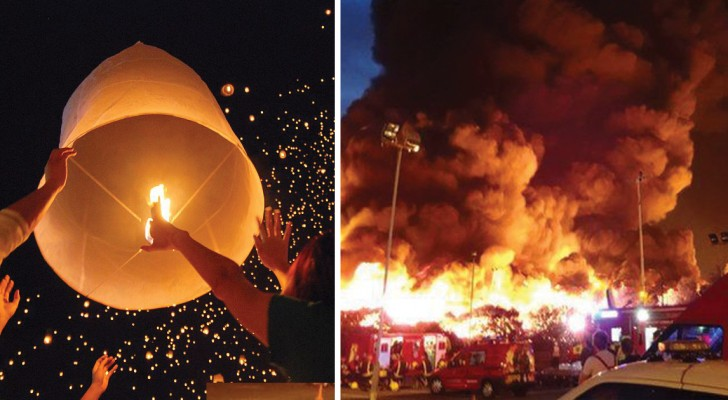 Hai lanciato lanterne cinesi a capodanno? Ecco dei buoni motivi per non farlo mai più