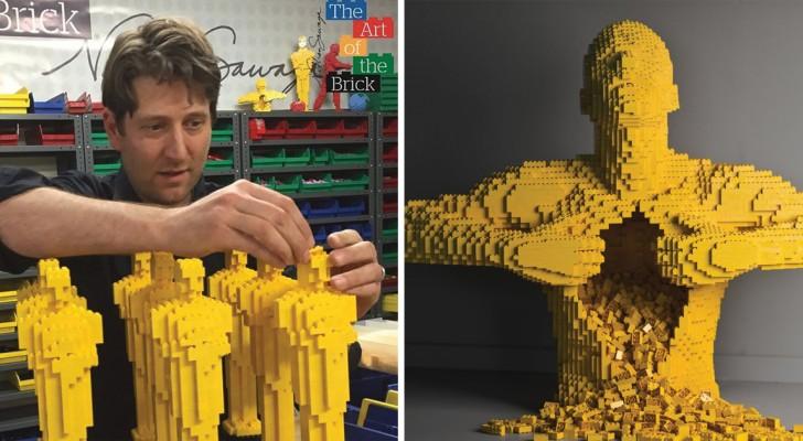 Abbandona la carriera di avvocato per fare sculture con i Lego: diventa una star internazionale!