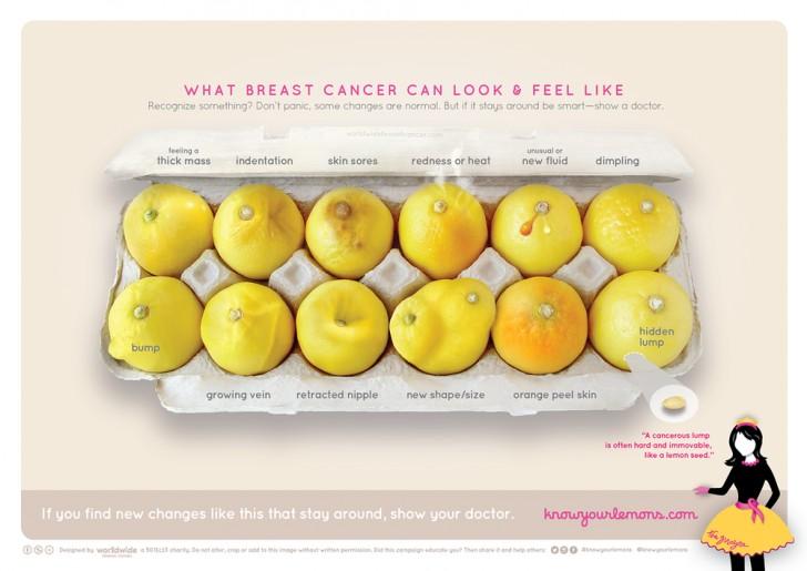I limoni che aiutano nella diagnosi del cancro al seno: osservarli attentamente può salvarti la vita