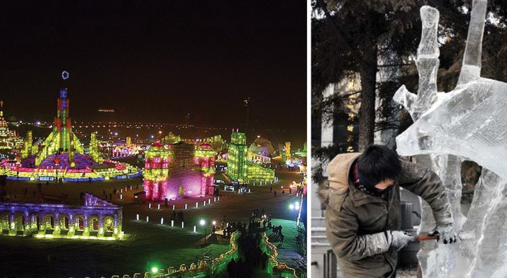 Sculture di ghiaccio e luci: scoprite il festival invernale più importante e frequentato del mondo