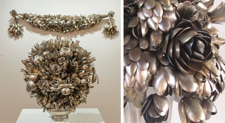 Questa donna colleziona utensili da cucina... e li trasforma in meravigliosi oggetti d'arte