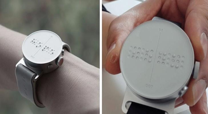 Il primo orologio intelligente in braille, che permette ai non vedenti di ricevere e inviare messaggi