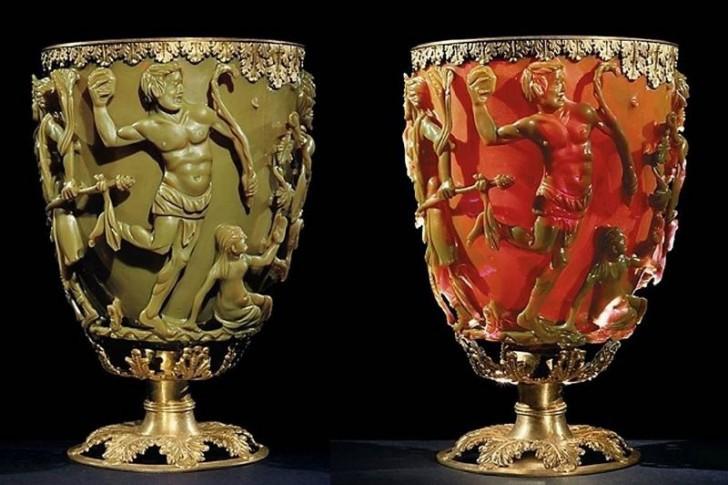Het mysterie achter de Lycurgusbeker gemaakt in de Romeinse tijd met een